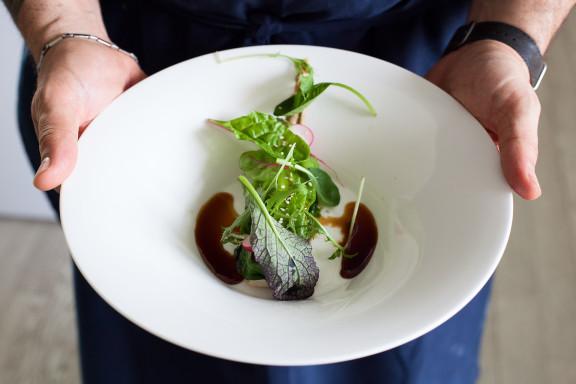 Tofu Bio Otani in erba - chef Francesco Pesce