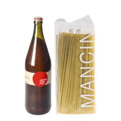 Spaghetti alla chitarra (Pasta Mancini) e pomodoro (Laboratorio Agricolo Panella)